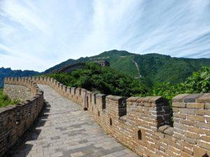 La grande muraille de chine et l'emploi de la brique traditionnelle