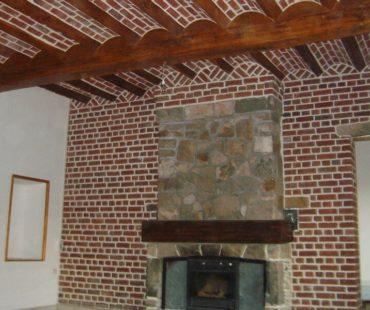 Mur intérieur brique