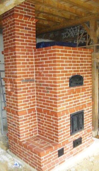 four à pain et pizza exterieur en briques réalisé par Lagrive