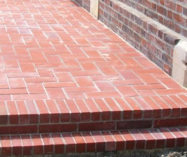 Patio with bricks